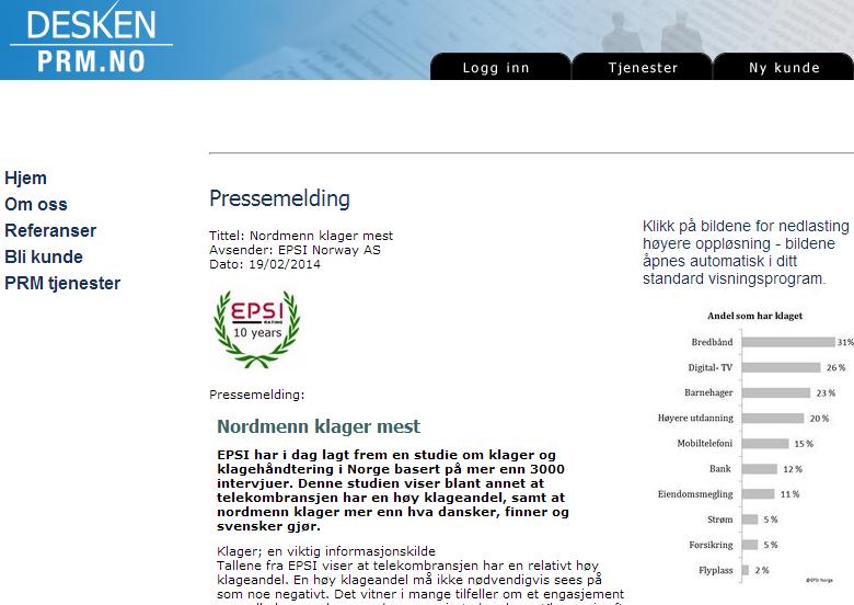 Pressemelding - Pressemeldinger - Send pressemelding